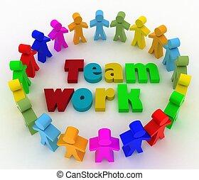 People looking for teamwork