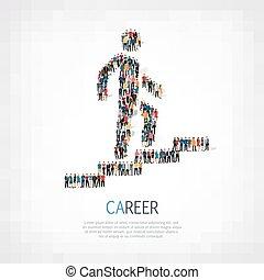 people man walking stairs career