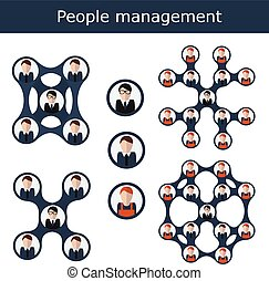 People management concept vector illustration. Office hierarchy, human resources, business team