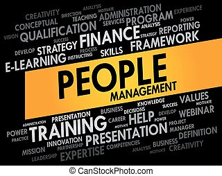People Management word cloud