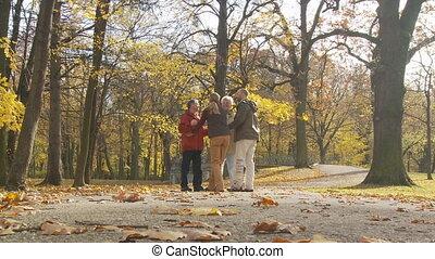 people meeting in park part II