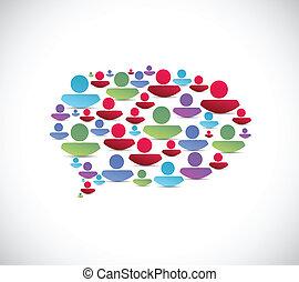 people message bubble illustration design
