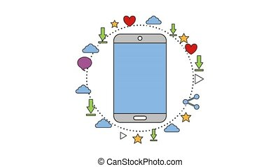 people net work - smartphone net work technology digital