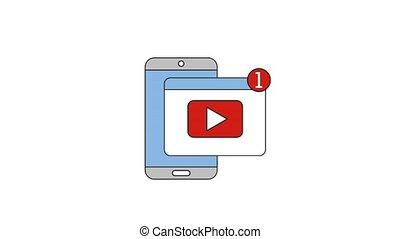 people net work - smartphone video notification net work