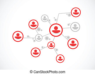 people network connection illustration design