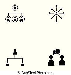 people network icon set