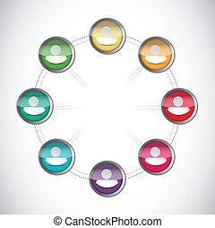 people network illustration design