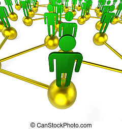 People Network Indicates Global Communications And Chat