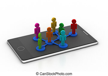 People network on a smart phone