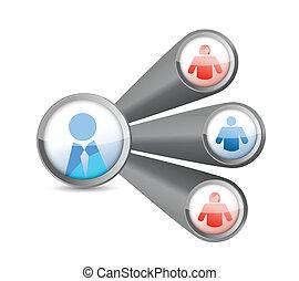 people network. social media diagram illustration
