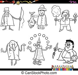 people occupations coloring page - Coloring Book Cartoon...