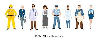 People of different professions. Set of characters on a ...