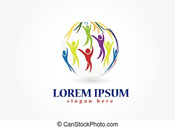 People of the world logo vector