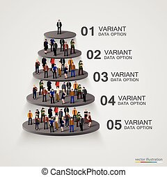 People on a pedestal in the hierarchy