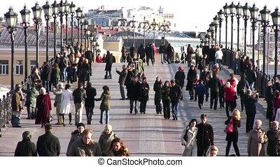 people on bridge - People on bridge