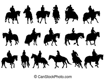 People on horseback