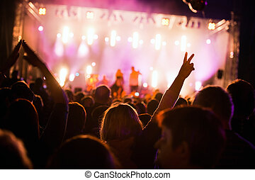 People on music concert