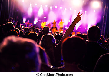 People on music concert - Crowds of people having fun on a ...
