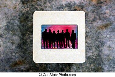People on slide film