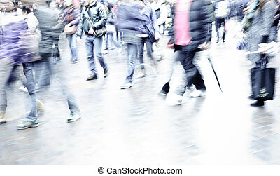 people on street - city people on business walking street