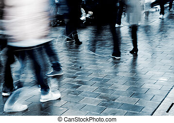 people on street