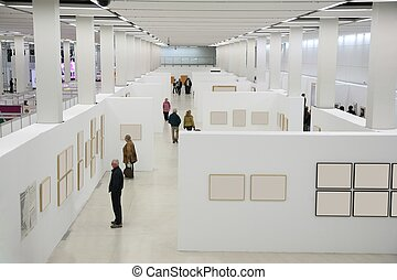 people on the exhibition