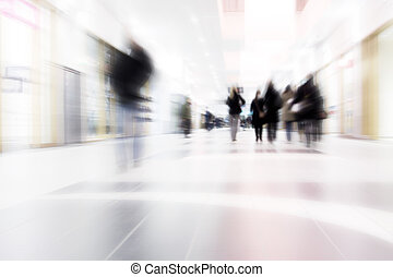 People on the Move in shopping center