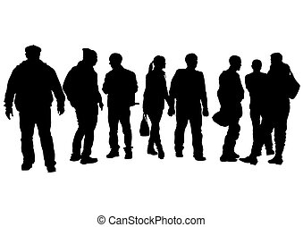 People on white background