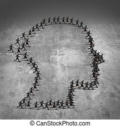 People Organization - People organization concept as a group...