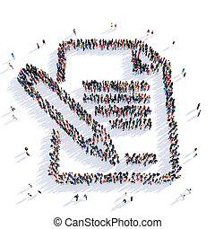 people paper letter 3d