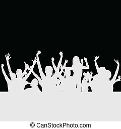 people party silhouette vector