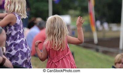 (people), petite fille, danse