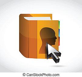 people phone book illustration design