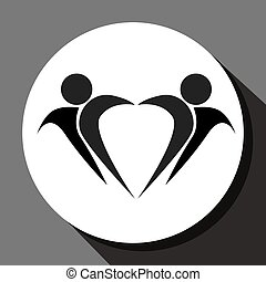 People pictogram abstract