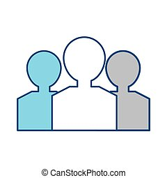 People pictogram silhouette