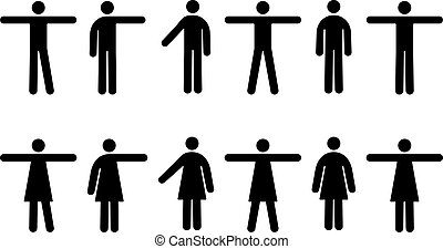 People Pictograms - Vector Pictograms of Men and Women in ...