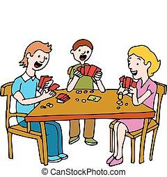 People Playing Poker Card Game