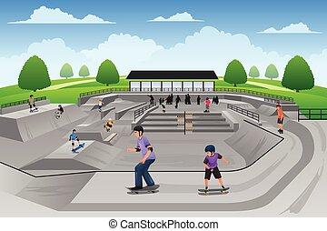 People Playing Skateboard
