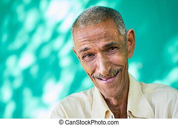 People Portrait Happy Elderly Hispanic Man Laughing At ...
