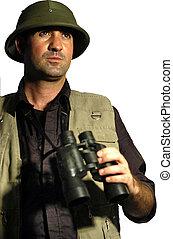 People Portraits - Explorer - A man dressed like en...