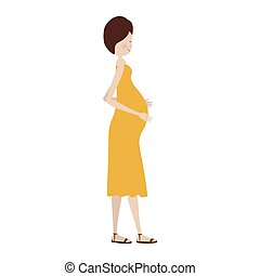 people pregnant woman icon