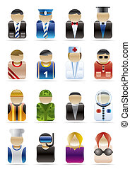 People Professions - Vector Icon Set