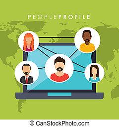 people profile design
