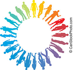 People rainbow star