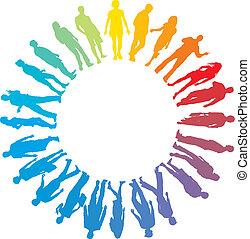 People rainbow star