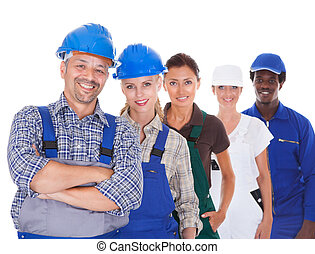 People Representing Diverse Professions - Group Of People...