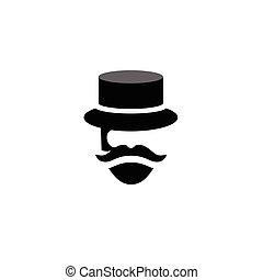 people Retro old mustache vintage  logo