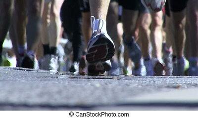 the Stockholm marathon, Stockholm, Sweden - People running...