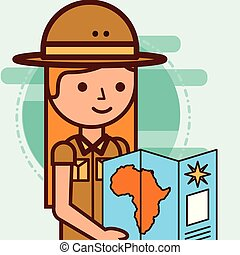 people safari travel