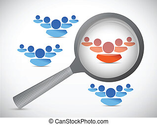 people selection illustration design over a white background